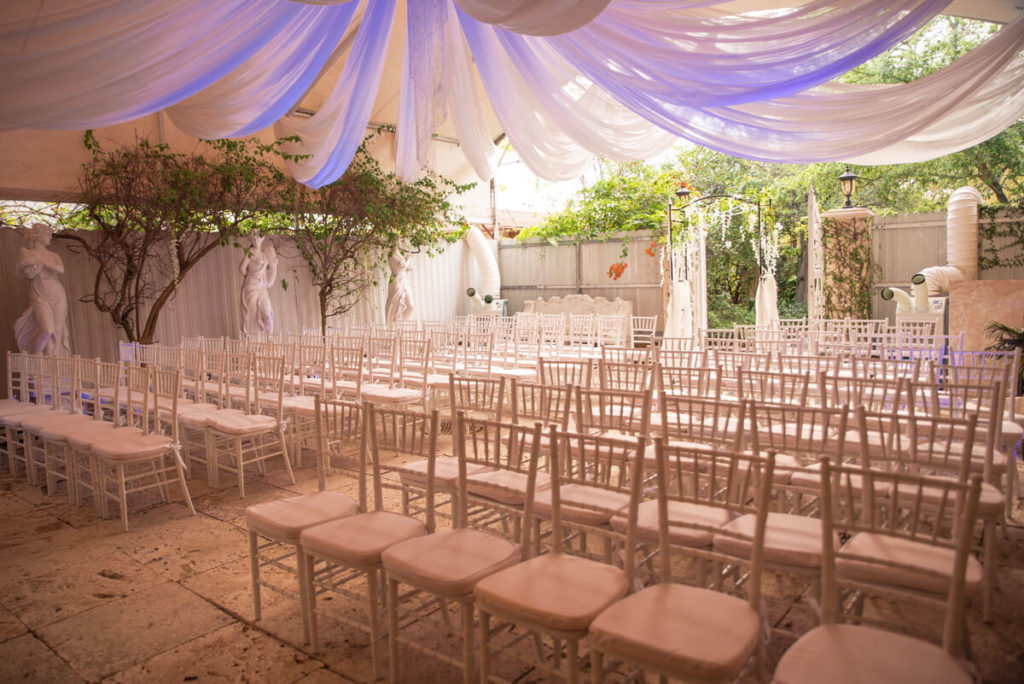outdoor Wedding chapel in Miami